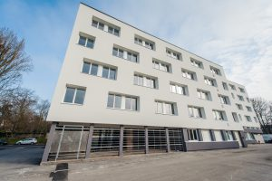 Réhabilitation Cité universitaire - Équipement de 227 chambres (dont 7 pmr) et cuisine commune SURFACE totale : 1 300 m² - budget : 4 M€ - GTM HALLE